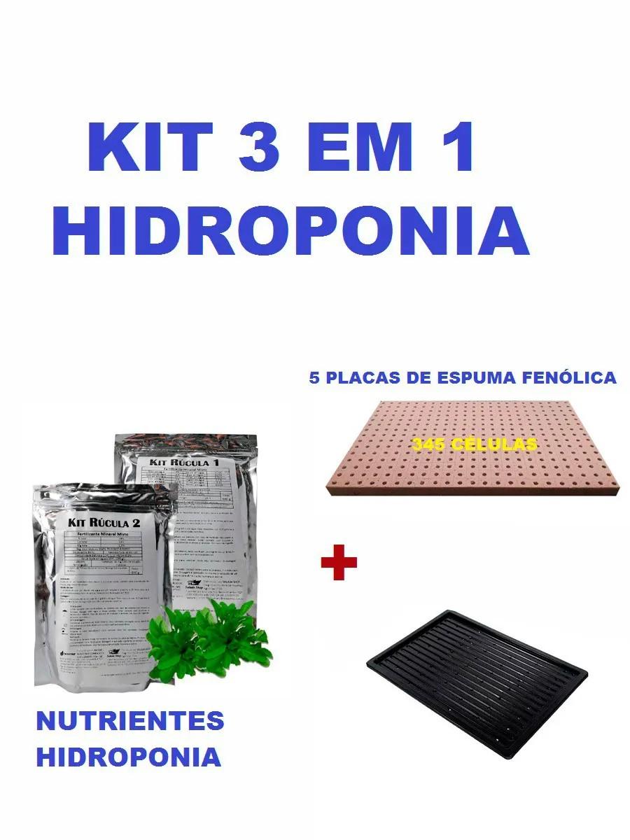 KIT - 5 ESPUMAS FENÓLICA FURO RÚCULA HORTICUBE + 1 NUTRIENTES E BANDEJA
