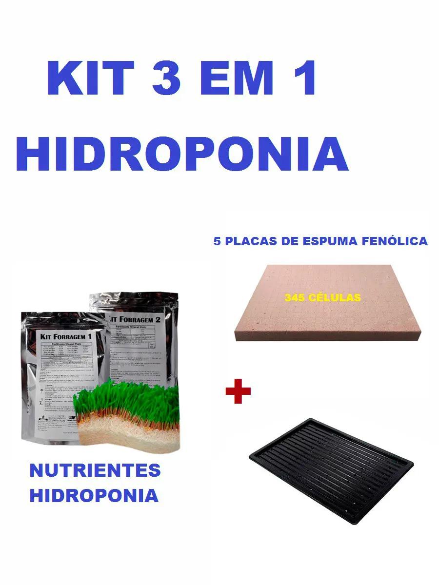 KIT ESPUMA FENÓLICA SEM FURO HORTICUBE + NUTRIENTES E BANDEJA