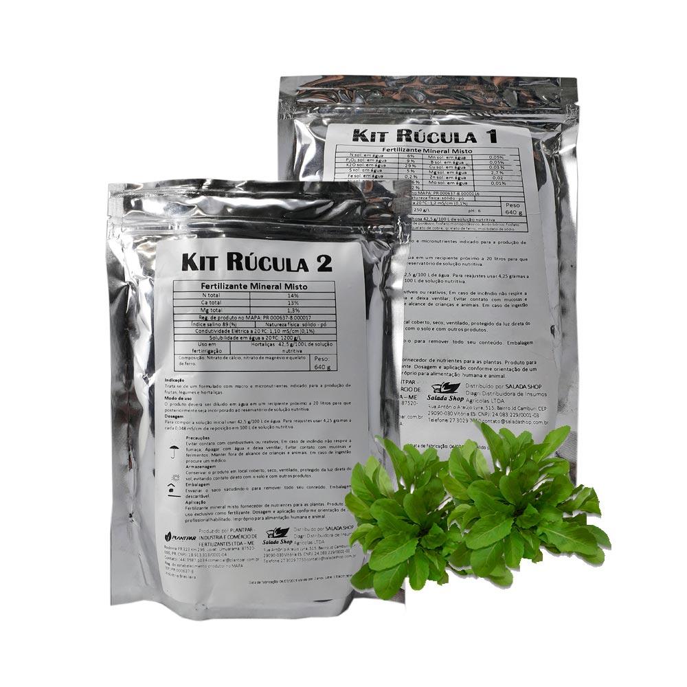 KIT SOLUÇÃO NUTRITIVA PLANT PAR RÚCULA - P/ 5 MIL LITROS