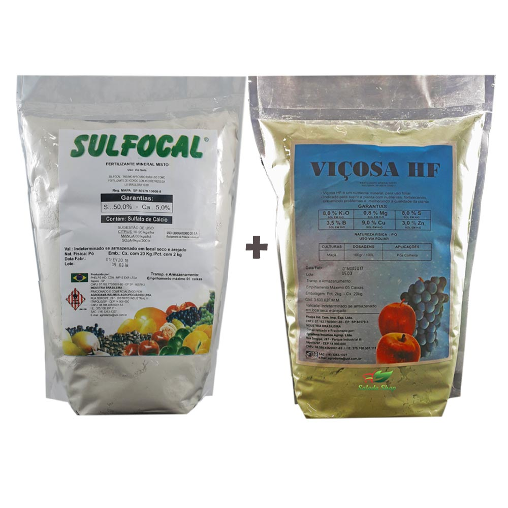 KIT SULFOCAL 2 KG + VIÇOSA HF 2 KG