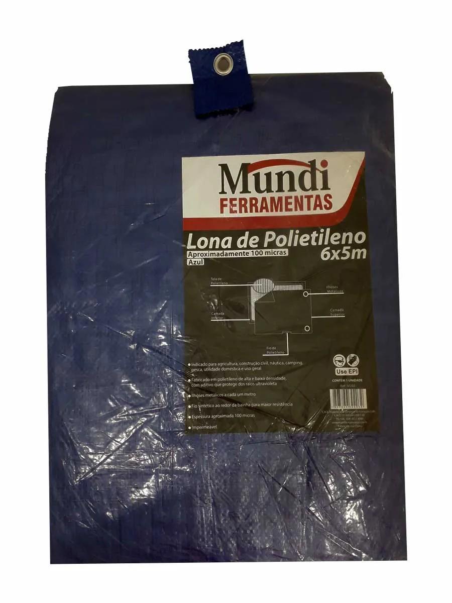 LONA DE POLIETILENO AZUL MUNDI 6 X 5m