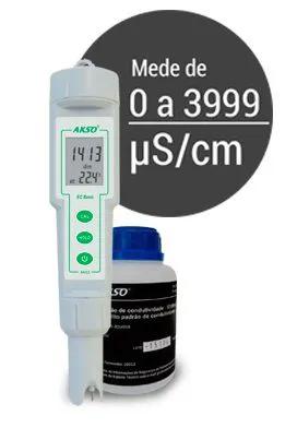 Medidor  AK52 + Solução calibração 14.13