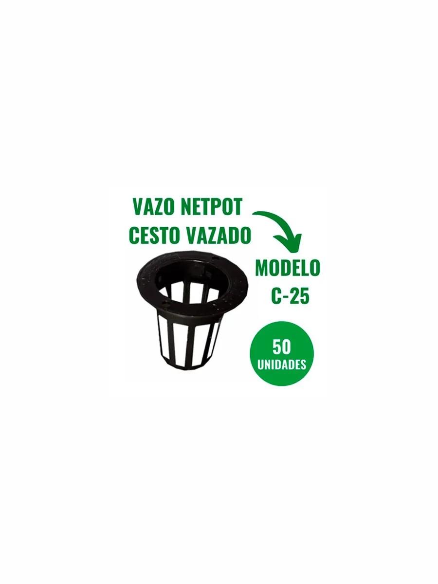 NETPOT CESTO VAZADO - C25 - 50 UN