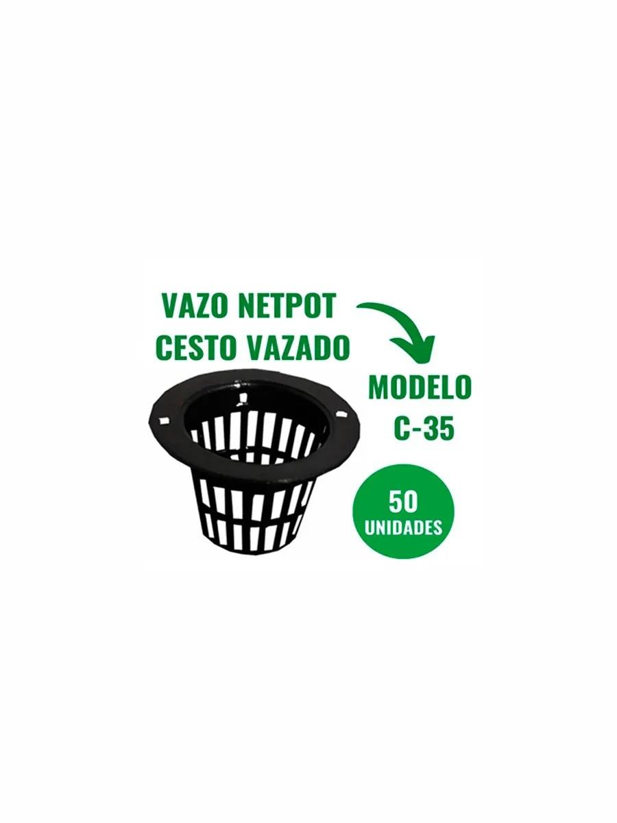 NETPOT CESTO VAZADO - C35 - 50 UN