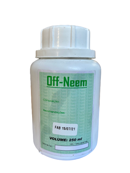 Óleo de Neem  OFF-NEEM. Peso Líquido:250 ml
