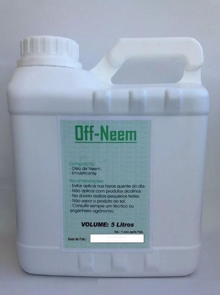 Óleo de Neem  OFF-NEEM. Peso Líquido:5 Litros