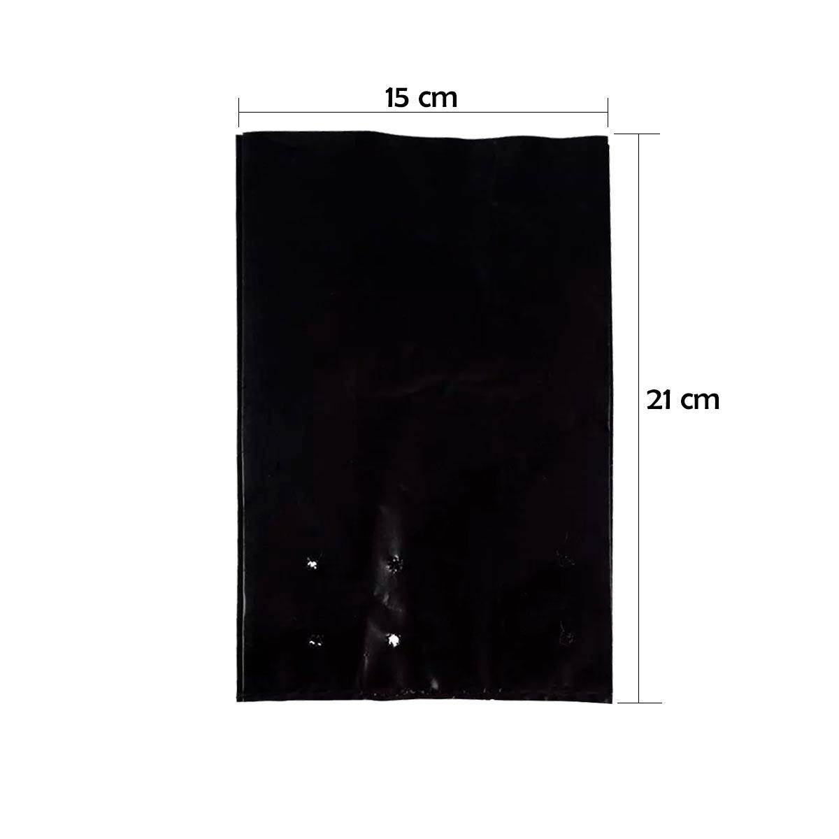 SACOLA PARA MUDA 15 X 25 X 05 RECICLADA (15x21 cm) - 500 UN