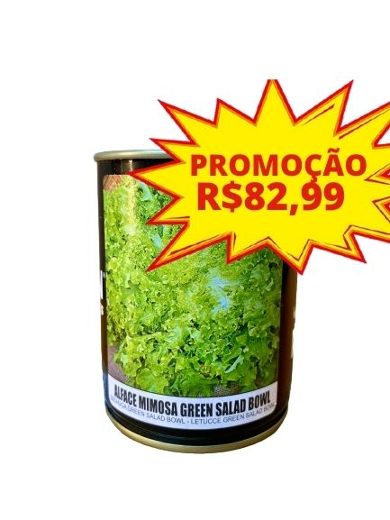 SEMENTE ALFACE MIMOSA GREEN SALAD BOWL FELTRIN A - LATA  100 gr