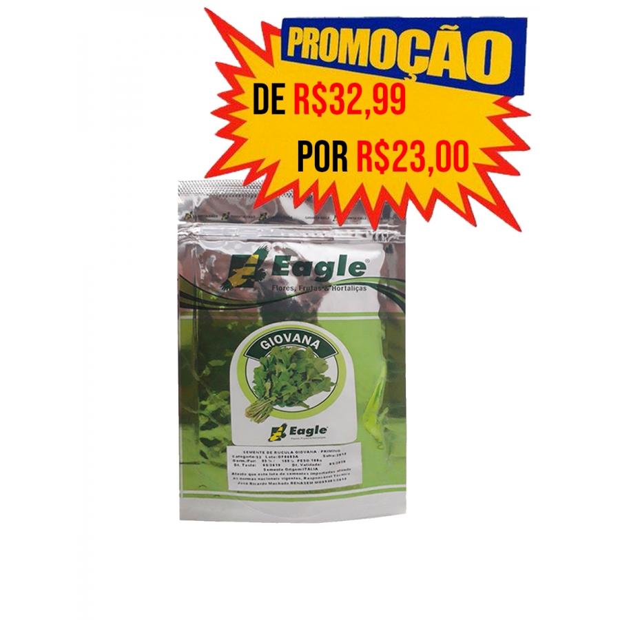 SEMENTE DE RÚCULA GIOVANA  Eagle -100 Gramas