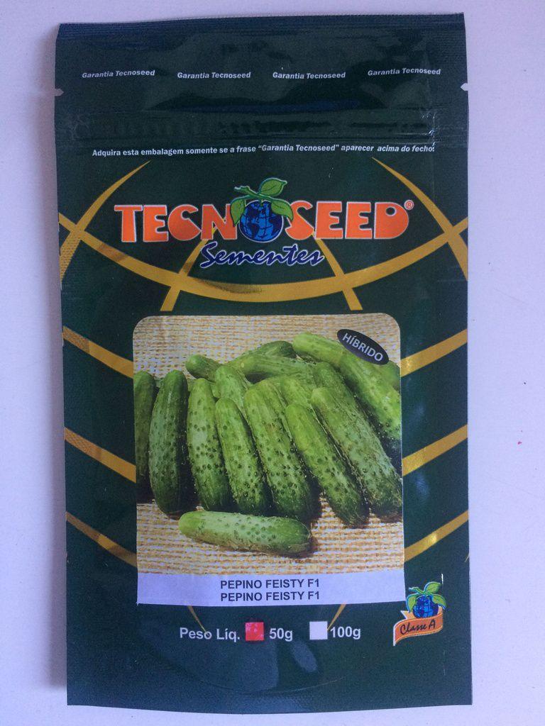 Semente Pepino Conserva Híbrido Feisty - TECNOSEED: 50 gramas