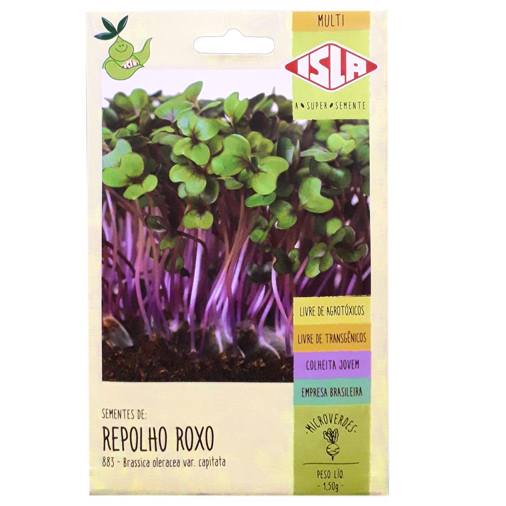 SEMENTES DE REPOLHO ROXO PARA MICROVERDES 1,5 g