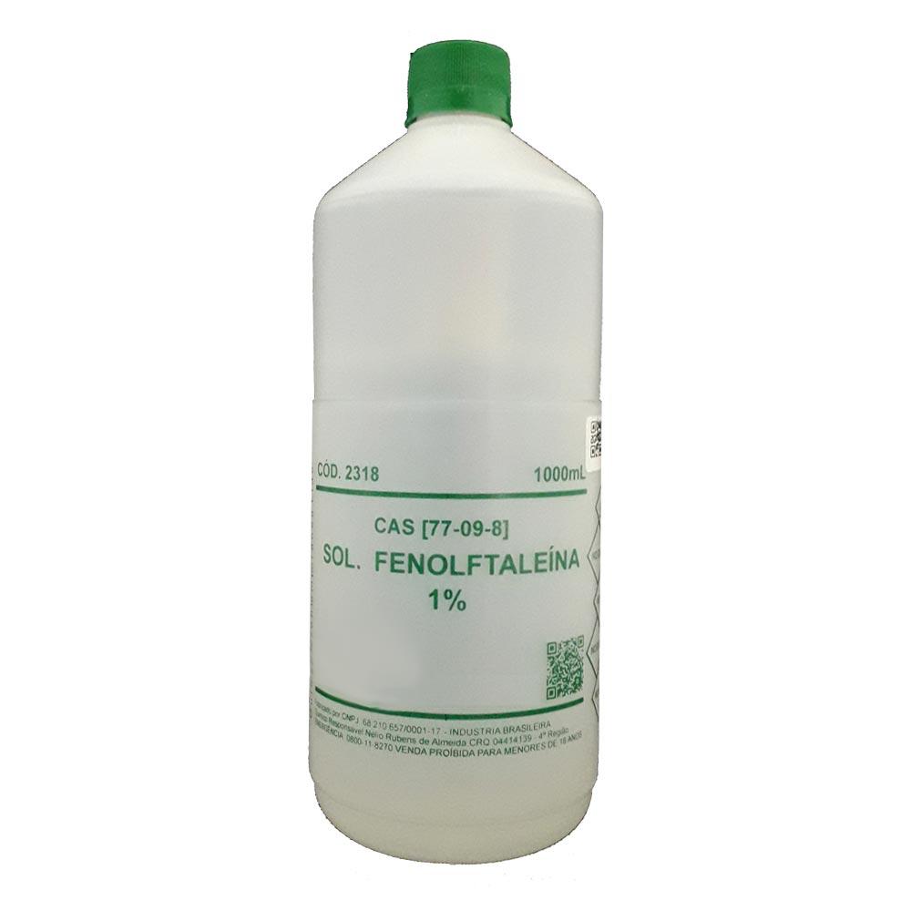 SOLUÇÃO FENOLFTALEINA 1% -  1000ML