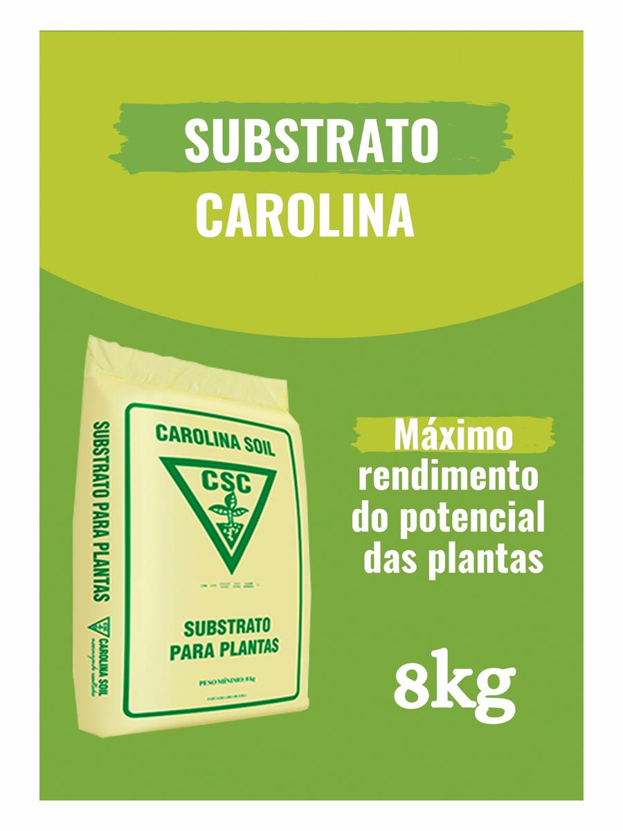 SUBSTRATO CAROLINA SOIL PADRÃO EC 0,7 - CLASSE XVI - 8KG CULTIVO INDOLOR