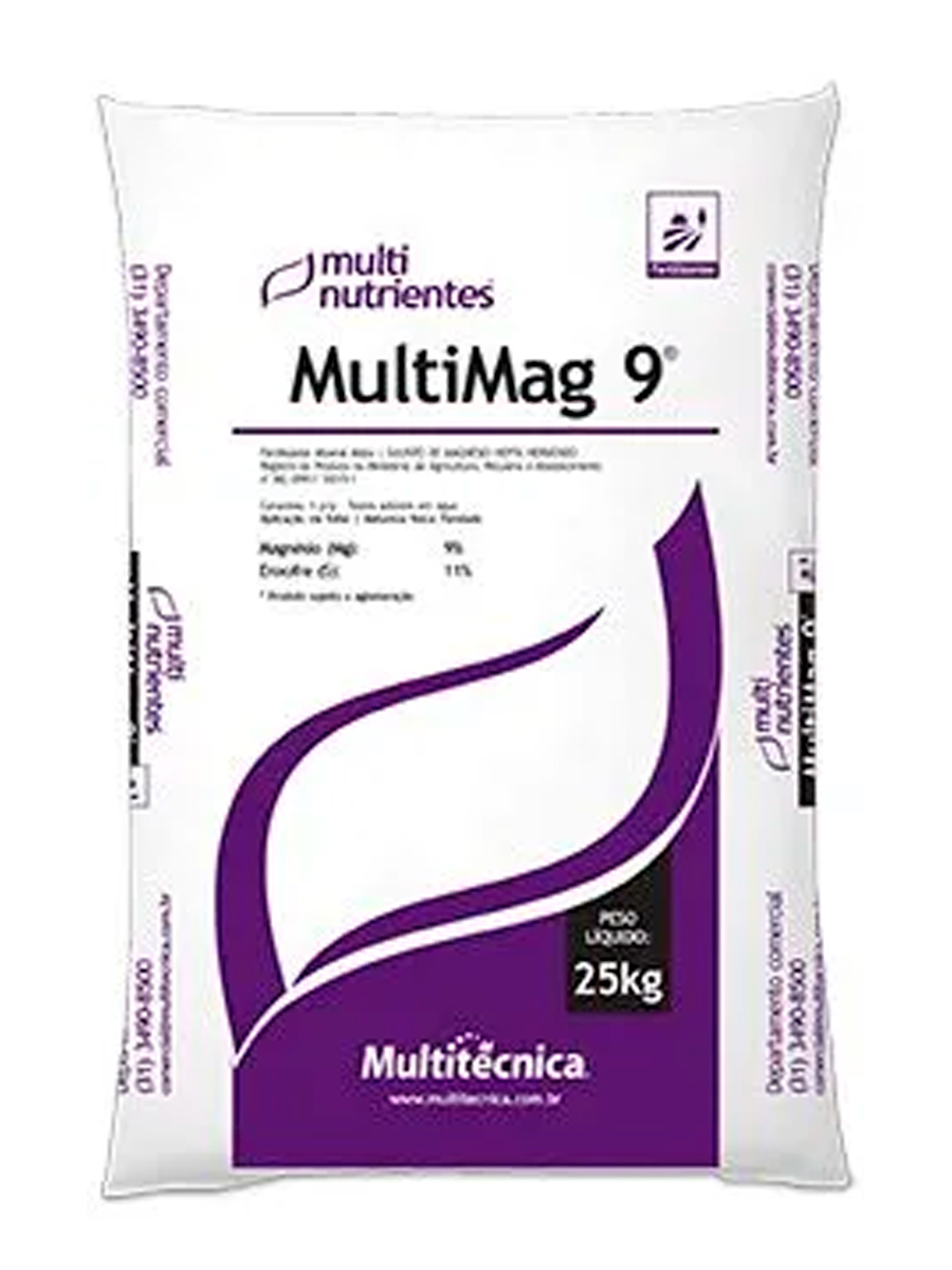 Sulfato de Magnésio Hepta Multitécnica MultiMag 9 - 25 KG