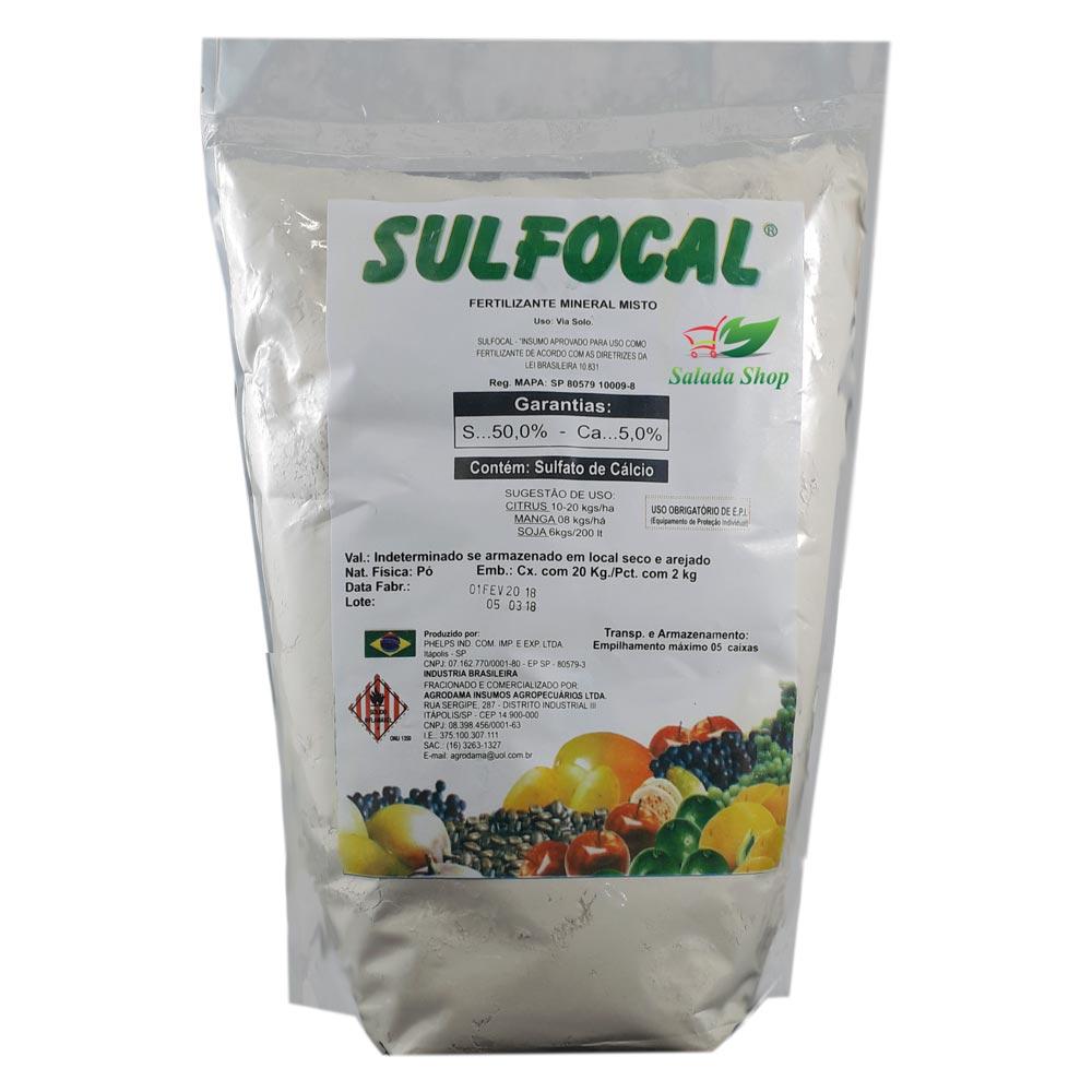 Sulfocal Calda Sulfocálcica 2 Kg  Hortaliça Fruta Flor