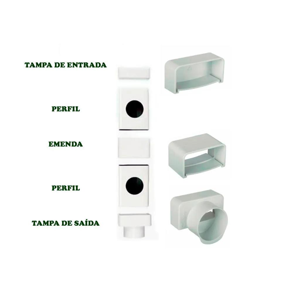 TAMPA DE ENTRADA PARA PERFIL HORTIVINYL 60X30 TEC357