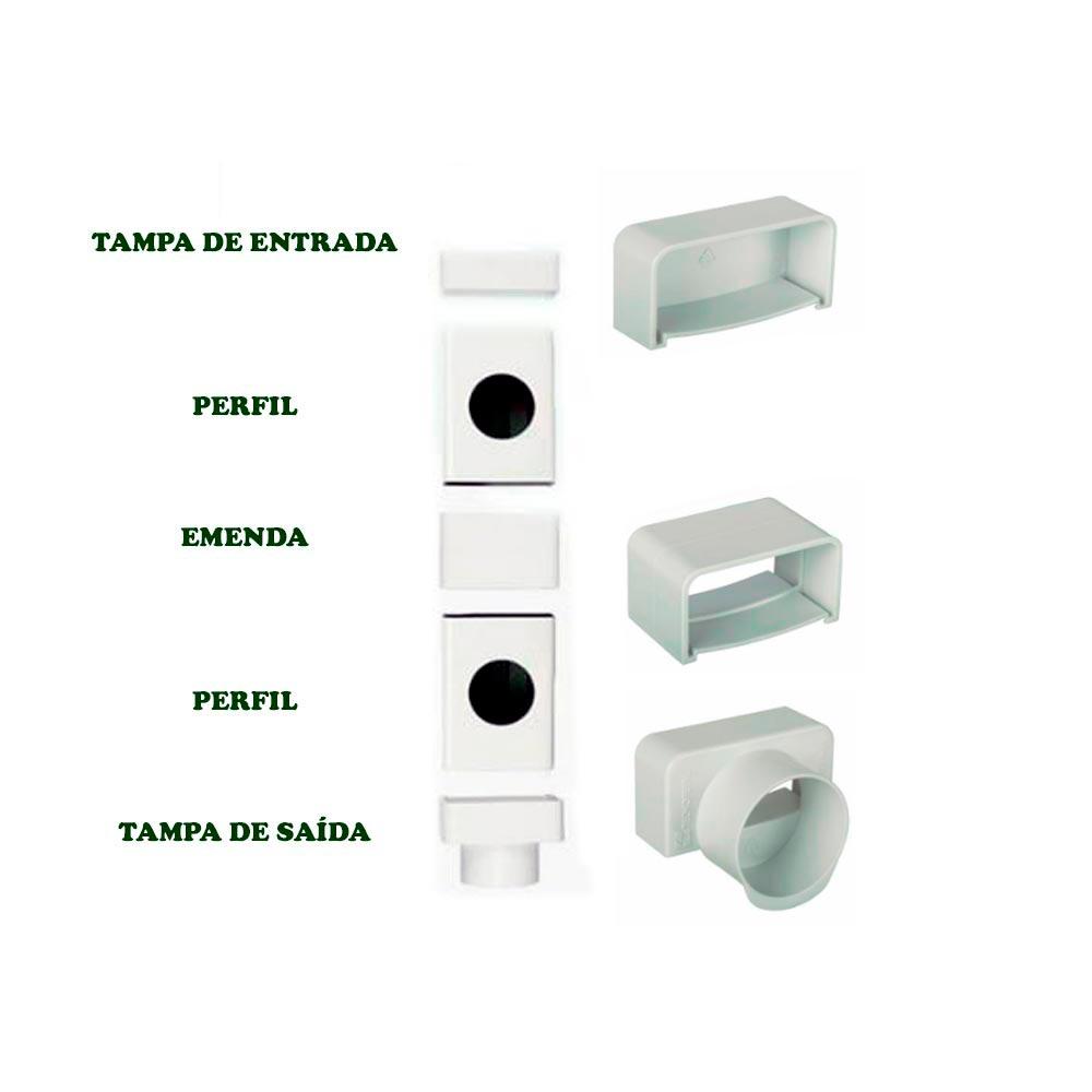 TAMPA DE ENTRADA PARA PERFIL HORTIVINYL PVC 80X40MM TEC356