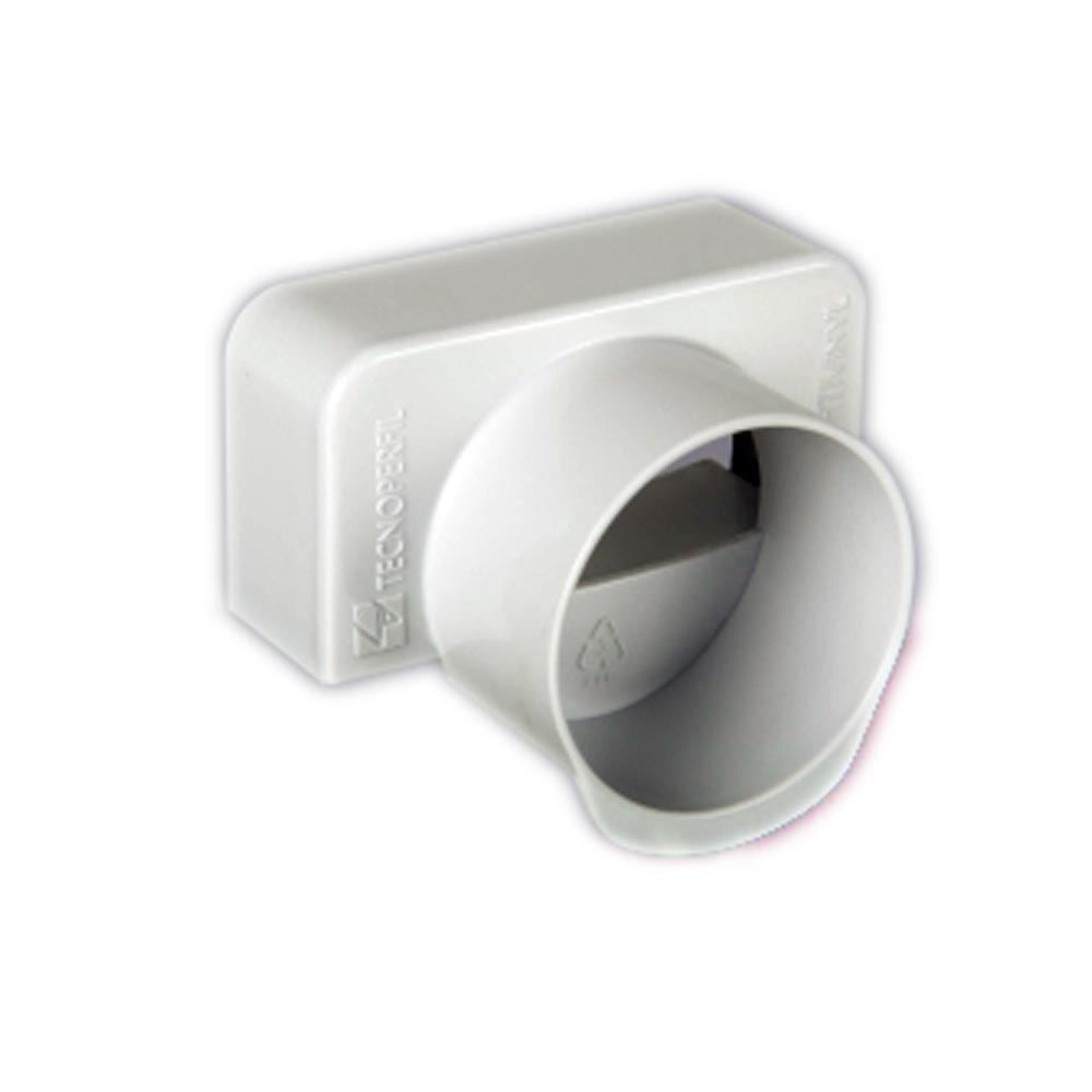 TAMPA DE SAIDA PARA PERFIL HORTIVINYL PVC 60X30MM