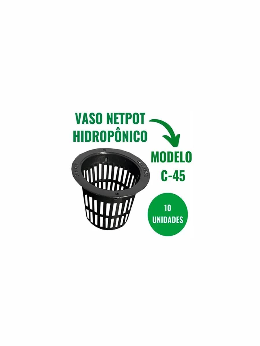 VASO NETPOT  HIDROPÔNICO - C45 - 10 UN