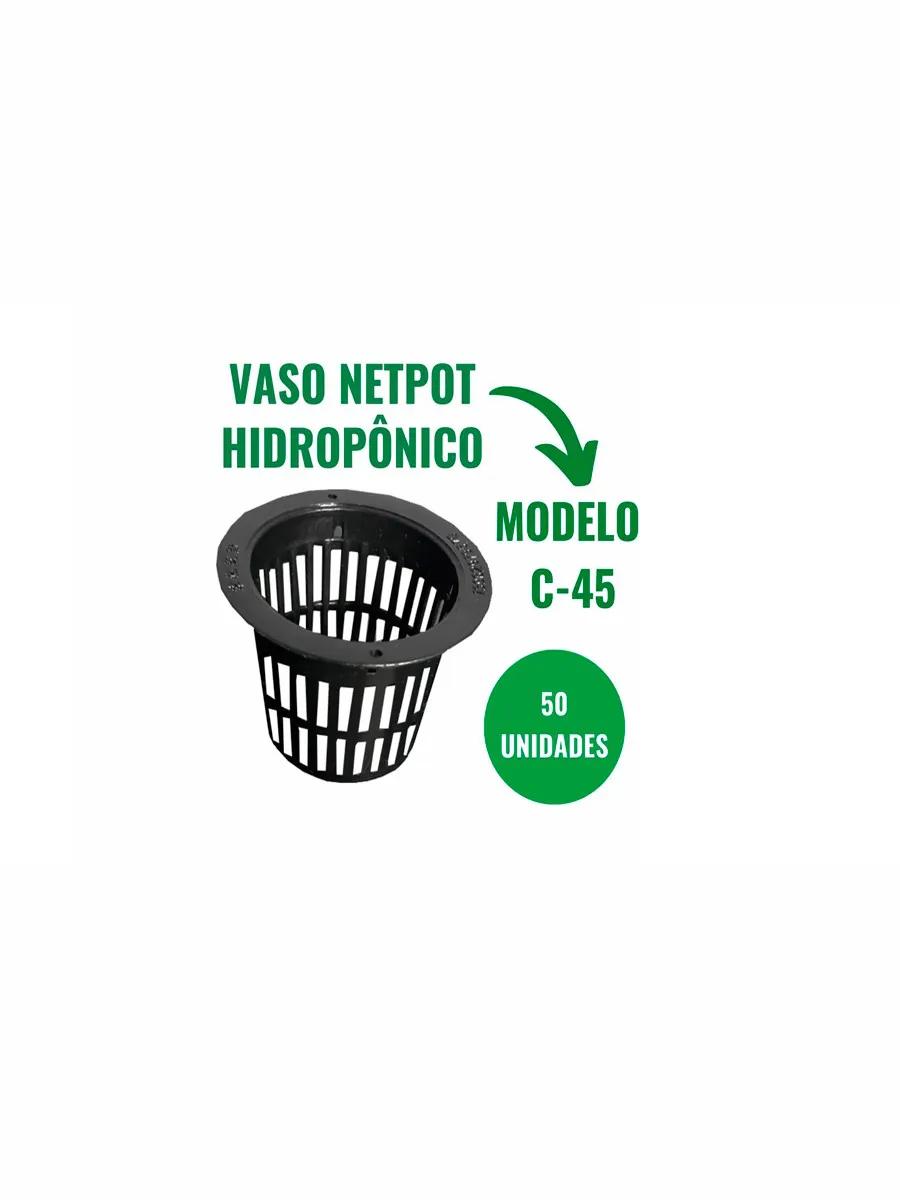 VASO NETPOT HIDROPÔNICO - C45 - 50 UN