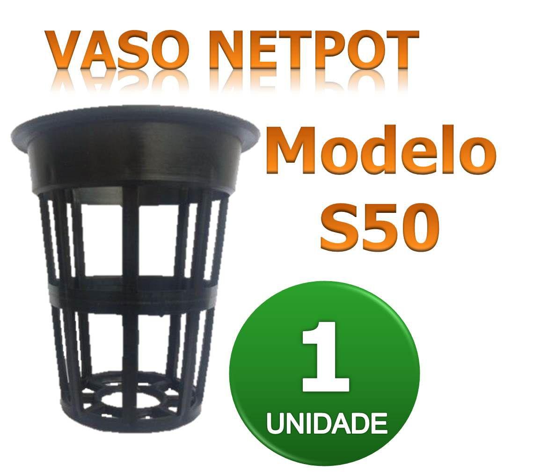 VASO Netpot Modelo S50 para hidroponia
