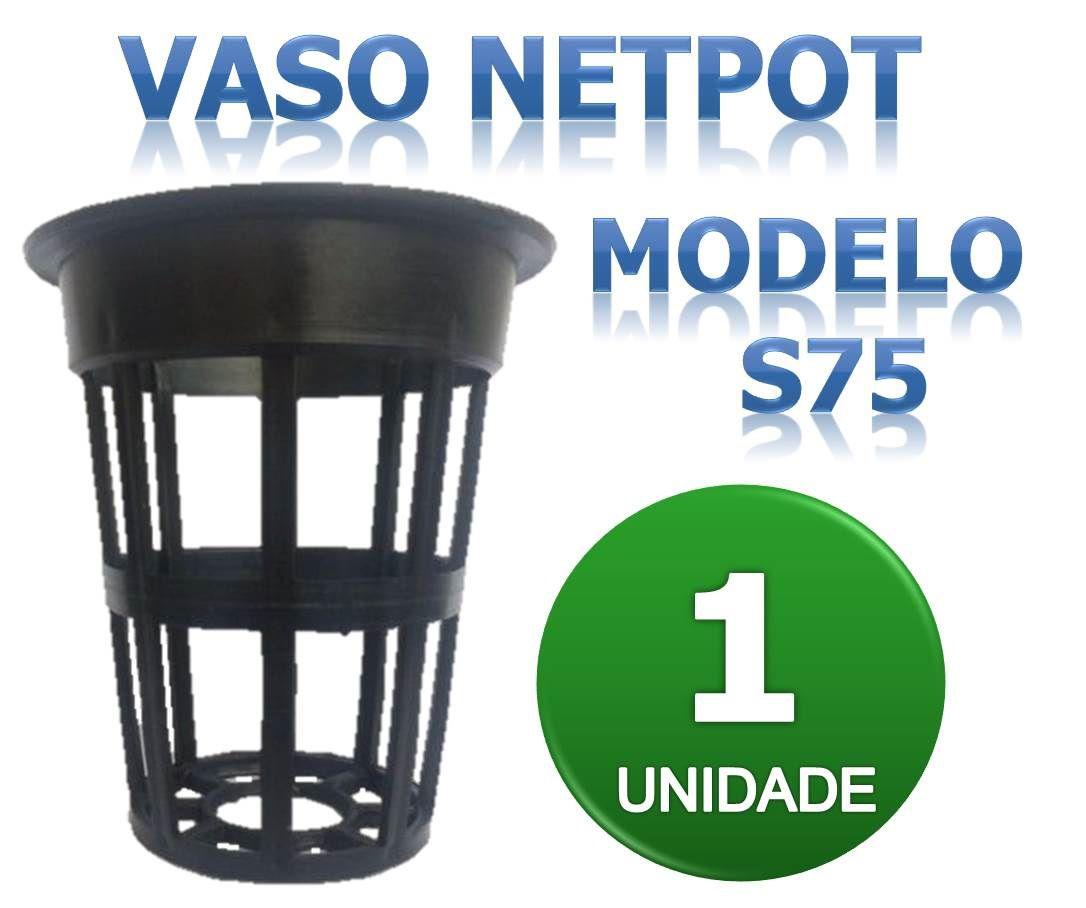 VASO Netpot Modelo S75 para hidroponia.