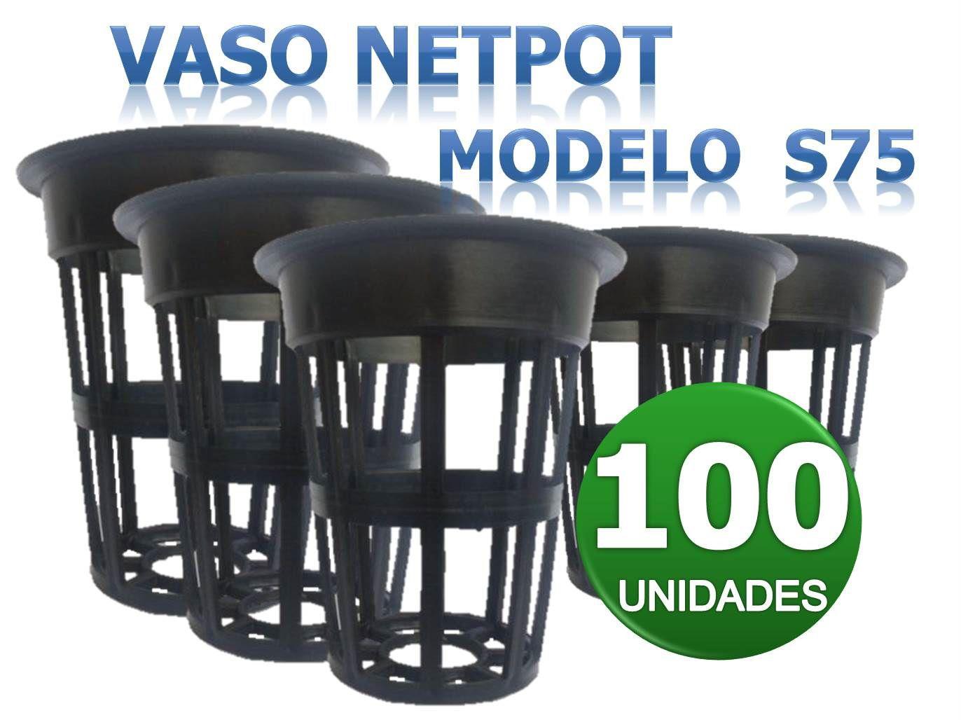 VASO NETPOT S75 - 100 UNIDADES