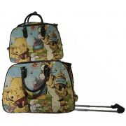 Kit Conjunto Mala De Viagem Com Rodinhas E Mala De Mão - Ursinho tigre