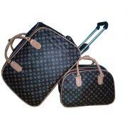 Cópia - kit viagens com bolsa de mão Marrom E Caramelo Louis Estrela