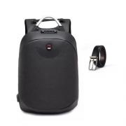 Mochila Anti Furto Laptop USB Notebook Cadeado + Cinto