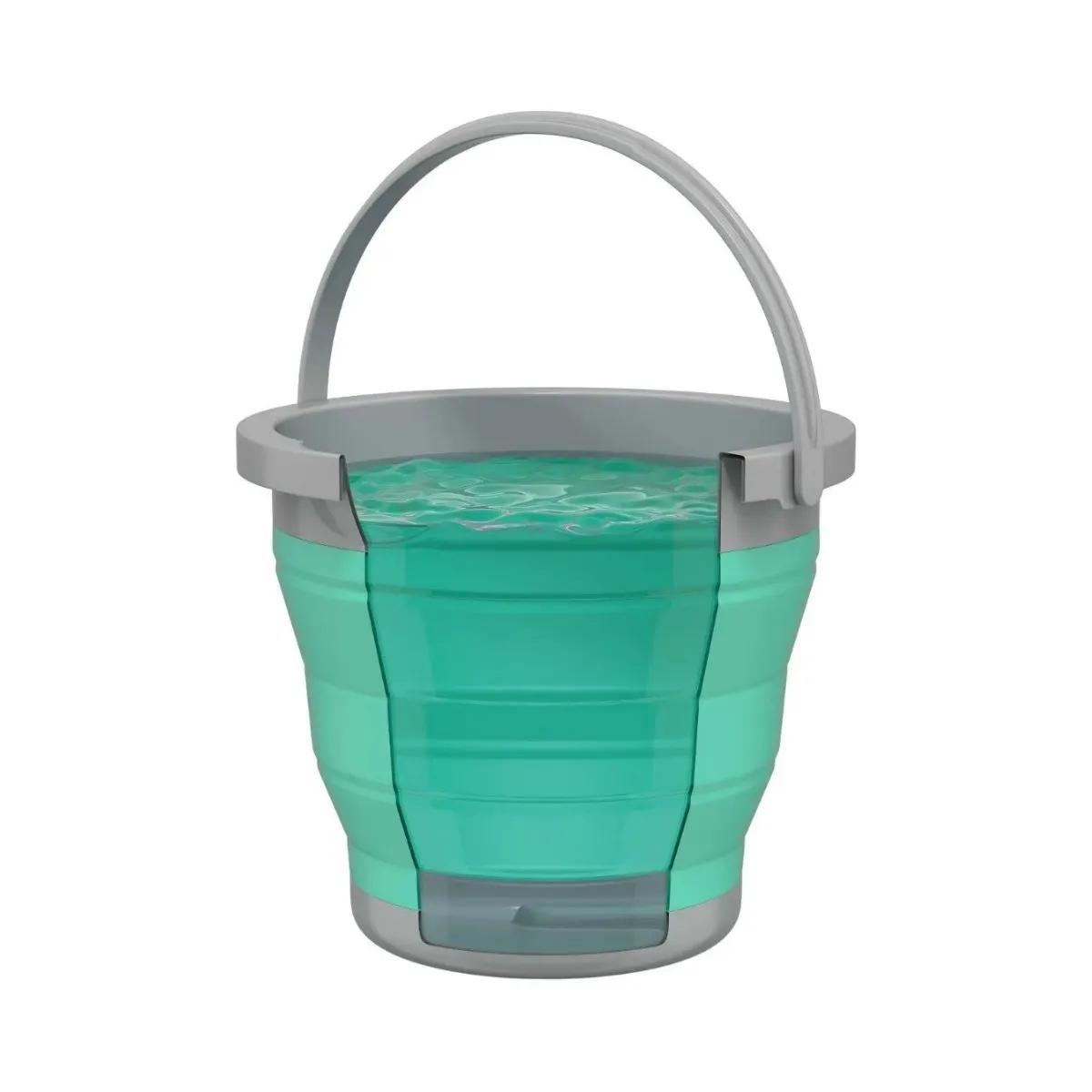 Balde Retrátil 5l Verde Água Lavanderia Flash Limp