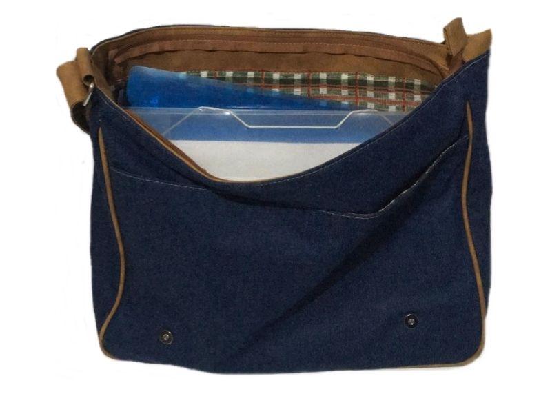 Bolsa Carteiro Pasta Tiracolo Masculina Unissex Jeans + Cinto