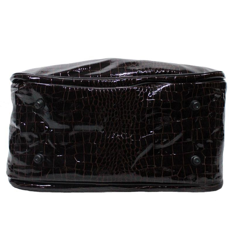Bolsa Mala De Mão com Alça Transversal Croco