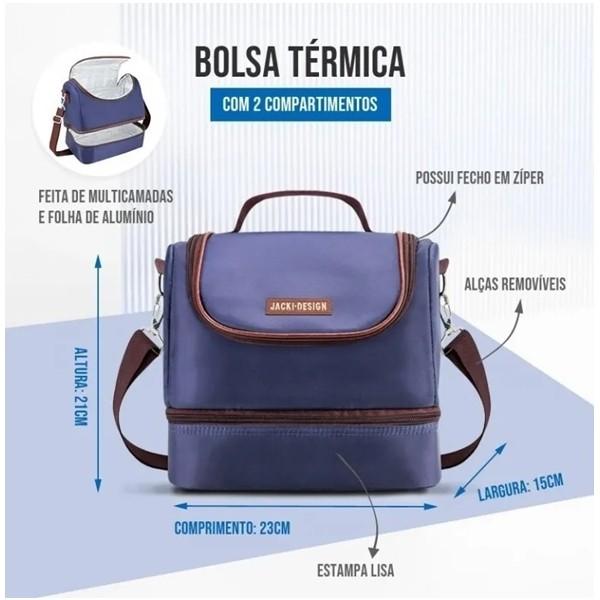Bolsa Térmica Com 2 Compartimentos For Men Jacki Design Cores