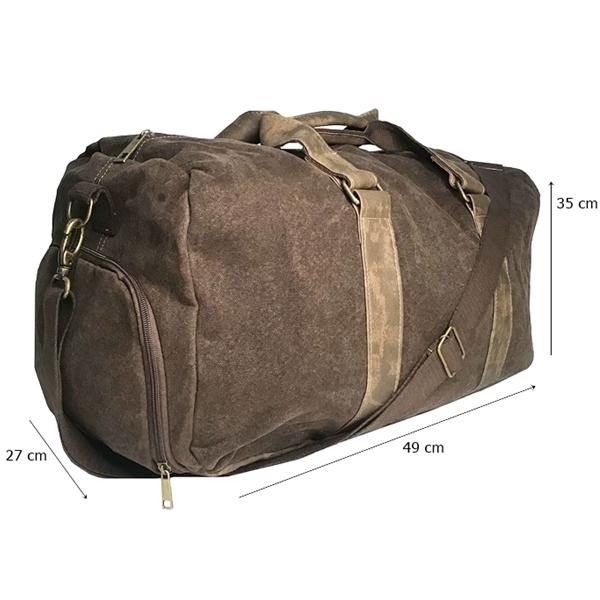 Bolsa Transversal Grande Compartimento Segredo Para Calçado Marrom Viagem