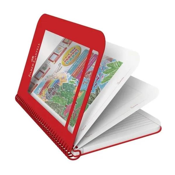 Caderno Criativo Capa Vermelha 96 Folhas Faber Castell