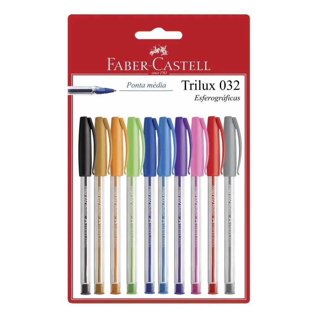 Caneta Esferográfica 1.0mm Trilux Faber Castell
