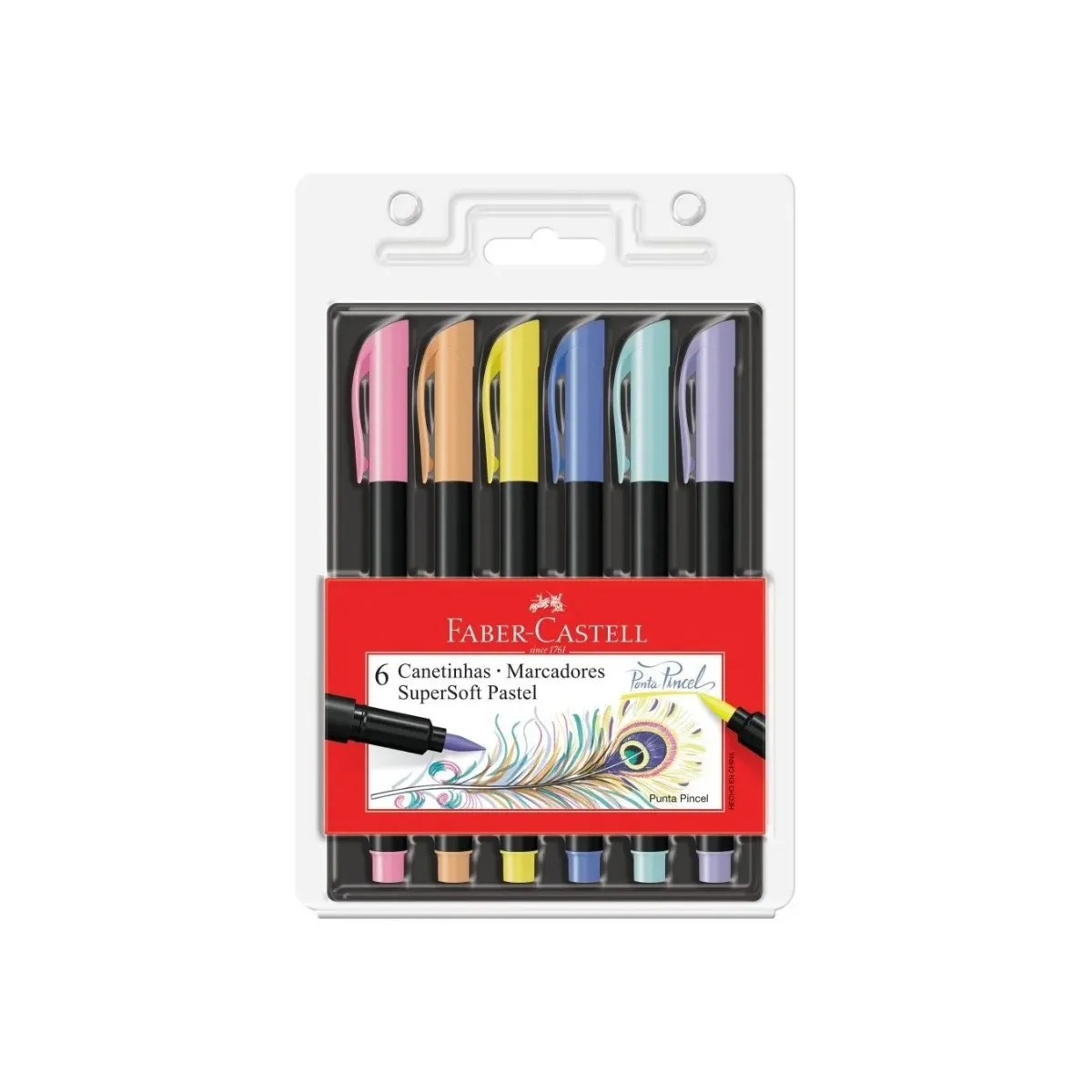 Canetinha Hidrográfica Supersoft Brush Faber-Castell-Pastel