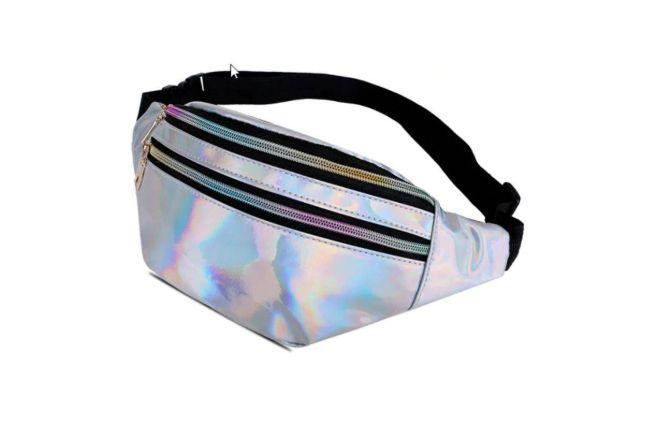CÓPIA - Cópia - Pochete Holográfica Brilho PRATA