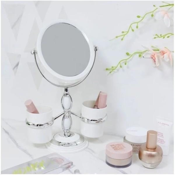 Espelho Mesa Penteadeira Suporte Pinceis Jacki Design
