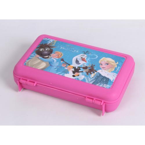 Estojo Frozen Escola Menina Original Rosa + Porta Lapis