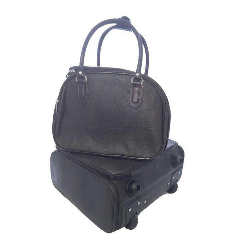 Kit conjunto mala de rodinha a bordo e mala de mão pequenas