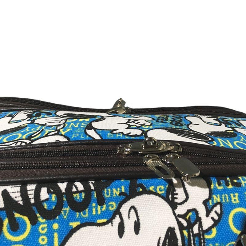Kit Conjunto Mala De Viagem Com Rodinhas E Mala De Mão - Cachorro Desenho