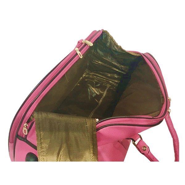 Kit Conjunto Mala De Viagem Com Rodinhas E Mala De Mão lisa Pink