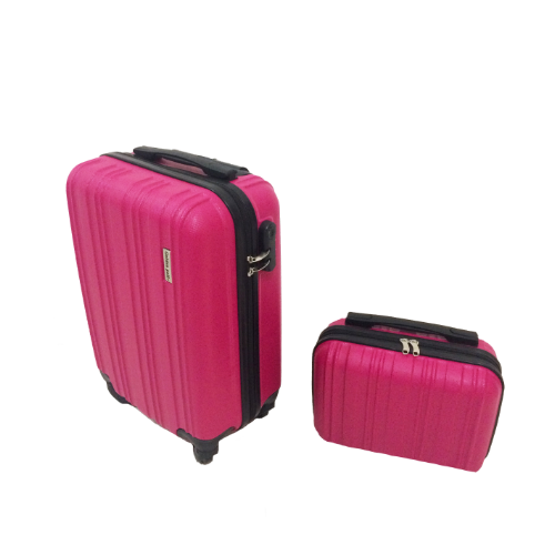 Kit Mala 360 Aceito a Bordo + Frasqueira Pink Rosa (50x30x20)