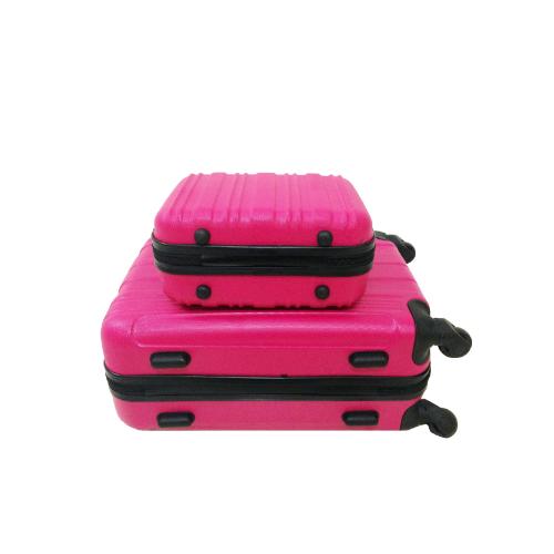 Kit Mala 360 Aceito a Bordo + Frasqueira Pink Rosa (55x35x20)