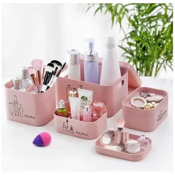 Kit organizador Beauty 4 Peças Para Maquiagem ou Banheiro Jacki Design