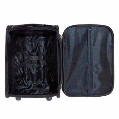 Kit Quadrada a Bordo + Mala de Mão Aceito a Bordo (55x35x20) 2 Bolsos Brilho Cores
