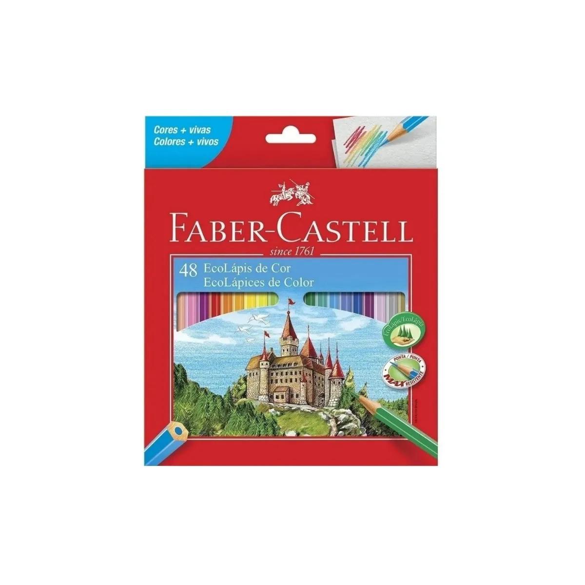 Lapis De Cor Faber Castell Ecolapis De Cor Lvm 48 Cores