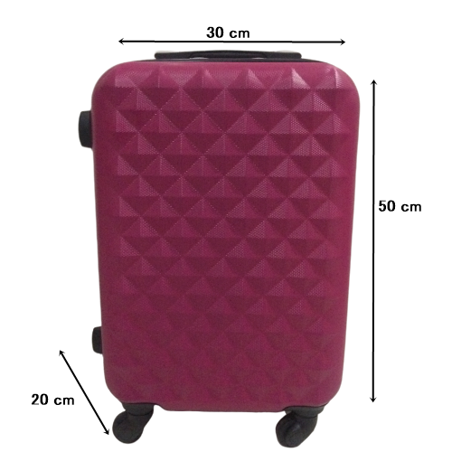 Mala 360 c/ 4 Rodinhas Diamante Pink a Bordo Aceito ( ANAC) Expansiva (50x30x20)